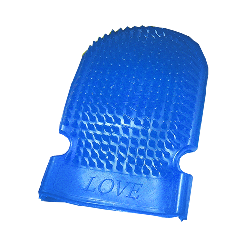 Massage Mitt Coral Blue